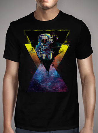 Мужская футболка Black Hole Triangle In Space