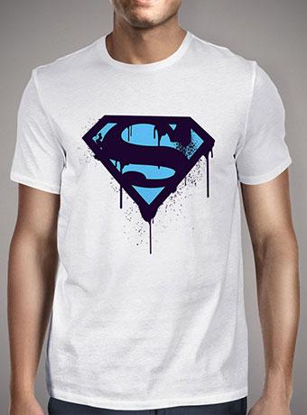 Мужская футболка Superman Blue Splatter Logo