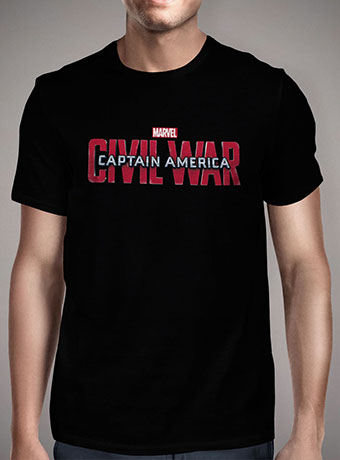 Мужская футболка Captain America Civil War Logo