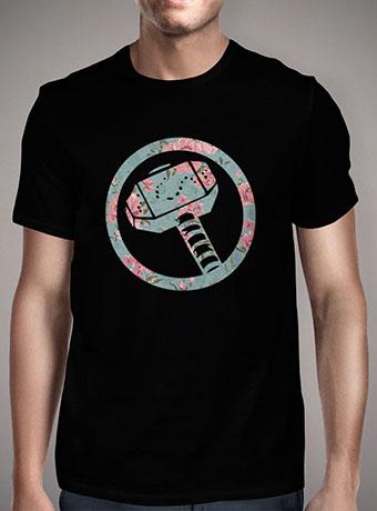 Мужская футболка Floral Mjolnir