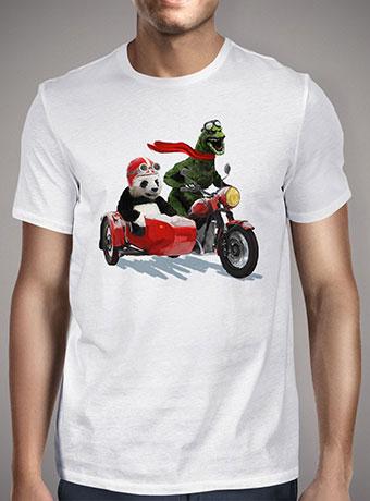 Мужская футболка Godzilla and Panda