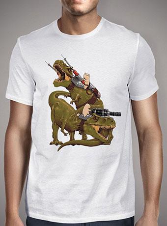 Мужская футболка Cats Riding T-Rexs!