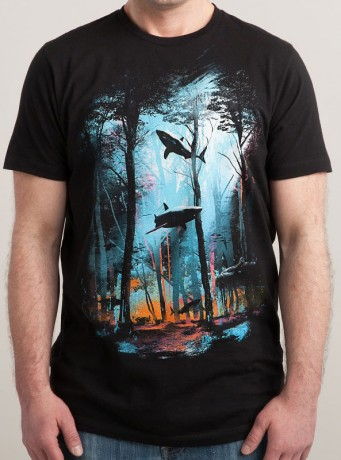 Мужская футболка Shark Forest