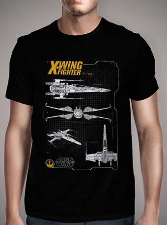 Мужская футболка Resistance X-Wing Schematic