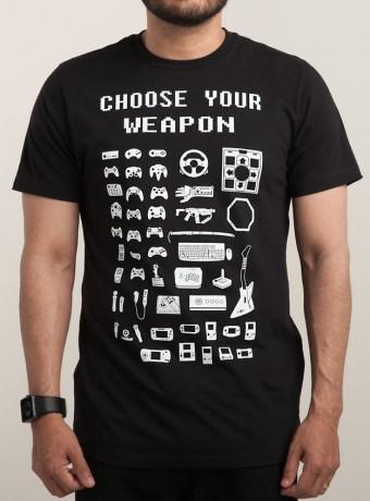 Мужская футболка Choose Your Weapon, Gamers