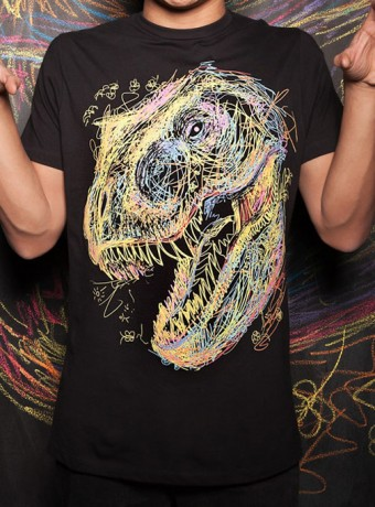 Мужская футболка Kids Draw T-Rex