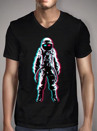 Мужская футболка с V-образным вырезом Astro In 3d