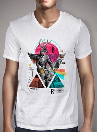 Мужская футболка с V-образным вырезом Biker
