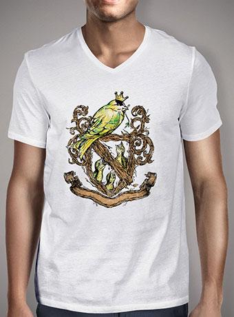 Мужская футболка с V-образным вырезом Birds Crest