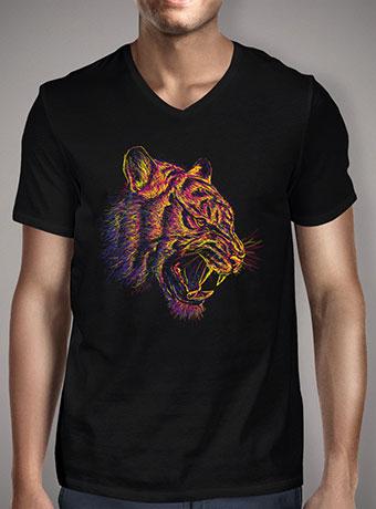 Мужская футболка с V-образным вырезом Blazing Tiger