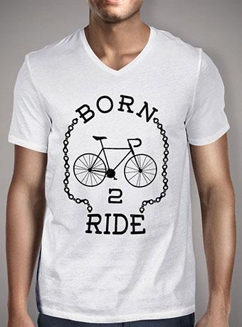 Мужская футболка с V-образным вырезом Born To Ride