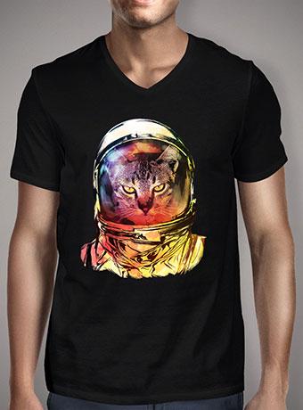Мужская футболка с V-образным вырезом Cat Invasion