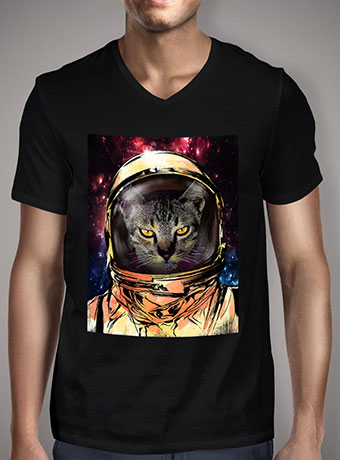 Мужская футболка с V-образным вырезом Cat Invasion V2