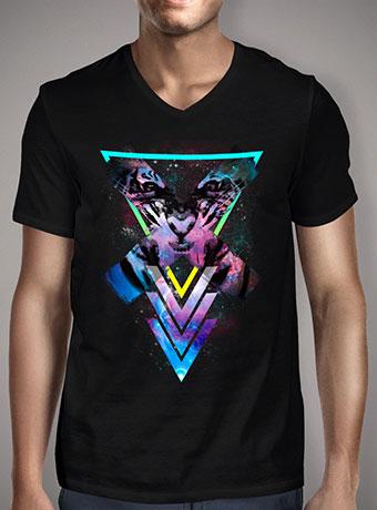 Мужская футболка с V-образным вырезом Code X