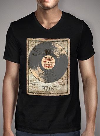 Мужская футболка с V-образным вырезом De Vinci Vinyl