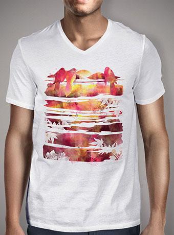 Мужская футболка с V-образным вырезом Enjoying The Sunset