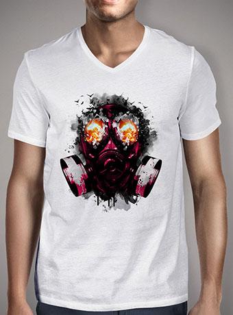 Мужская футболка с V-образным вырезом Explode