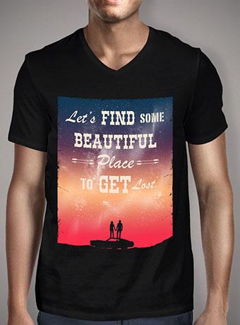 Мужская футболка с V-образным вырезом Find Some Beautiful Place