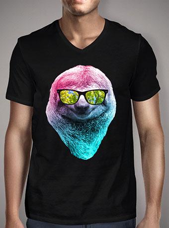 Мужская футболка с V-образным вырезом Happy Sloth