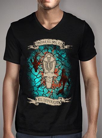 Мужская футболка с V-образным вырезом Hell Yeahh