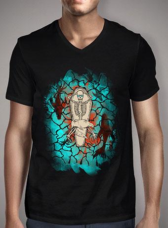 Мужская футболка с V-образным вырезом Hell Yeahh V2