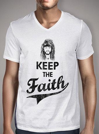 Мужская футболка с V-образным вырезом Keep The Faith