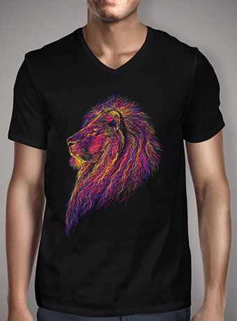 Мужская футболка с V-образным вырезом Lion Scribble