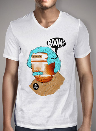 Мужская футболка с V-образным вырезом Mr. Boom Man