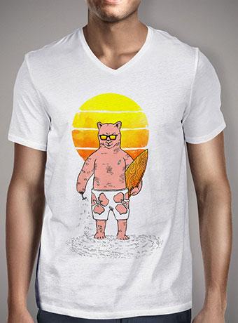 Мужская футболка с V-образным вырезом Polar Bear Goes Summer