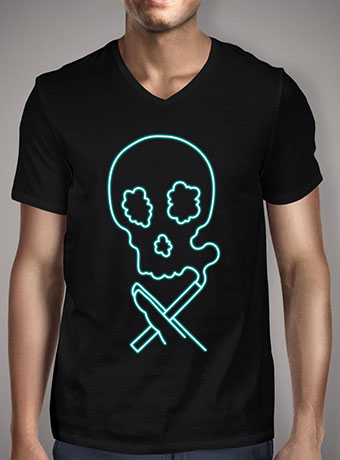 Мужская футболка с V-образным вырезом Smokin