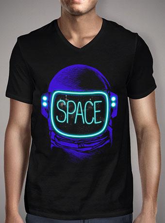 Мужская футболка с V-образным вырезом Space Neon