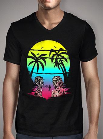 Мужская футболка с V-образным вырезом Summer After The Plague