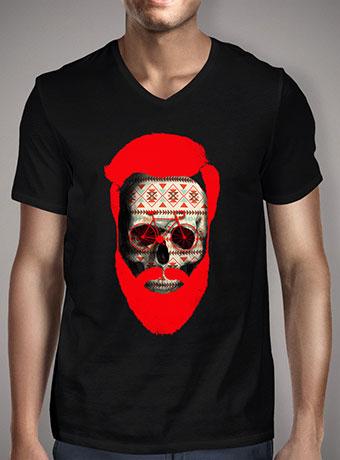 Мужская футболка с V-образным вырезом The Autumn Biker V2