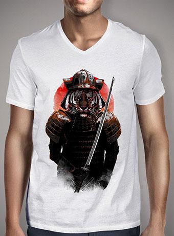 Мужская футболка с V-образным вырезом The Furious Samurai