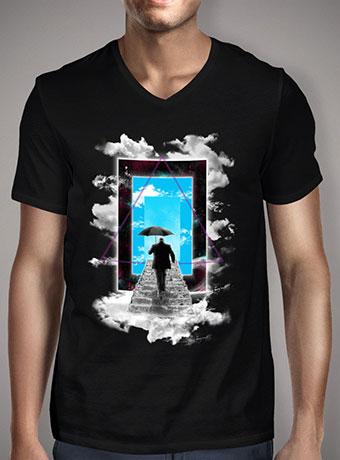 Мужская футболка с V-образным вырезом The New World