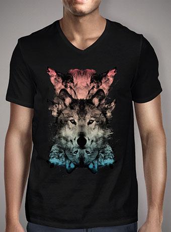 Мужская футболка с V-образным вырезом The Wolf