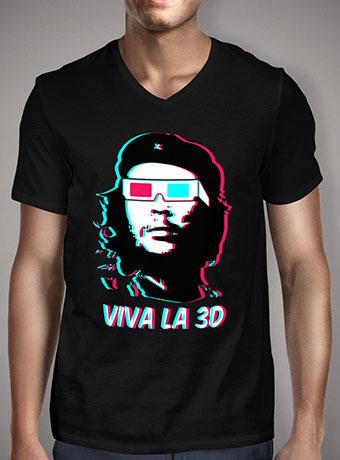 Мужская футболка с V-образным вырезом Viva La 3d