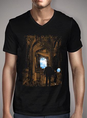 Мужская футболка с V-образным вырезом Way Back Home