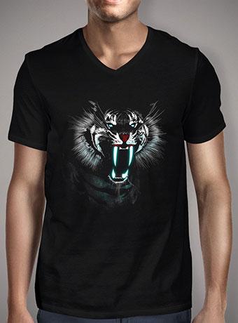 Мужская футболка с V-образным вырезом White Fang