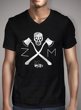 Мужская футболка с V-образным вырезом Zombie