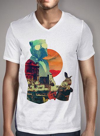 Мужская футболка с V-образным вырезом Abracadabra