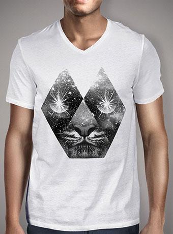 Мужская футболка с V-образным вырезом Cosmic Tiger
