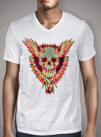 Мужская футболка с V-образным вырезом Geo Skull