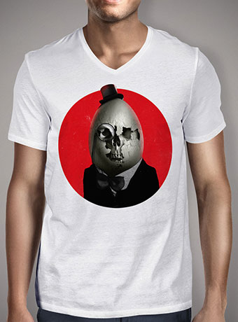 Мужская футболка с V-образным вырезом Humpty Dumpty
