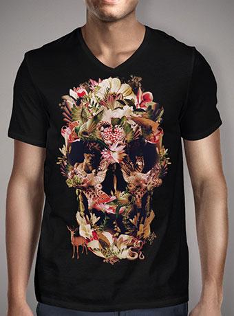 Мужская футболка с V-образным вырезом Jungle Skull