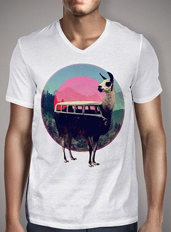 Мужская футболка с V-образным вырезом Llama