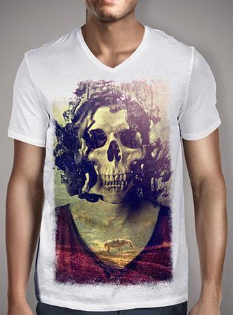 Мужская футболка с V-образным вырезом Miss Skull