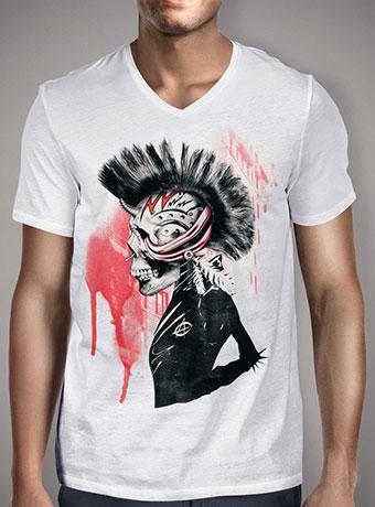 Мужская футболка с V-образным вырезом Punk