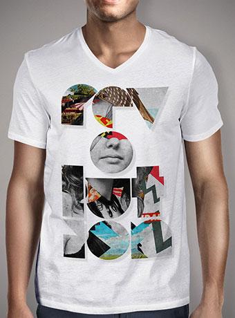 Мужская футболка с V-образным вырезом Revolution