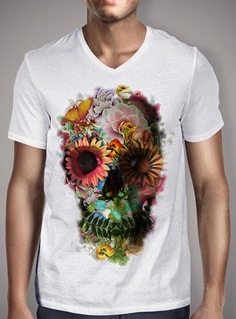 Мужская футболка с V-образным вырезом Skull 2